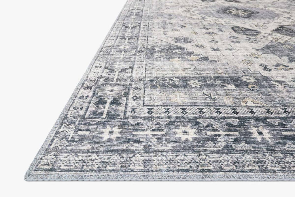 skye rug collection- silver/grey