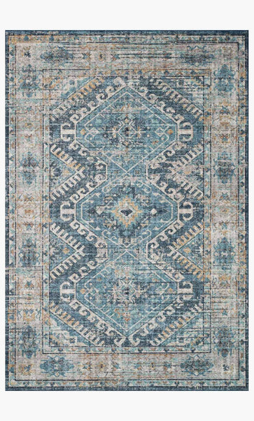 skye rug collection- denim/natural