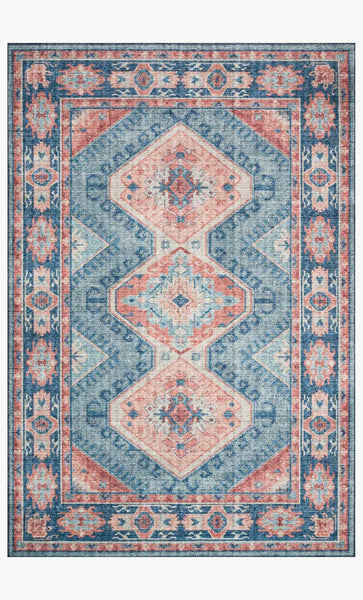 skye rug collection- turquoise/terracotta