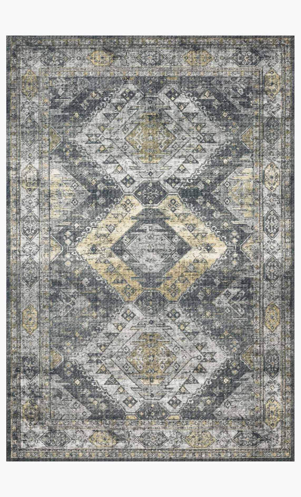 skye rug collection- graphite/silver