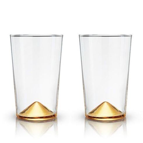 gold pointed cocktail tumblers