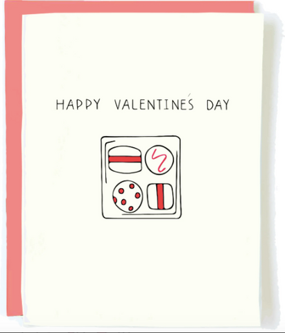 happy valentine's day chocolate card