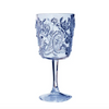 blue paisley wine glass - Apple & Oak