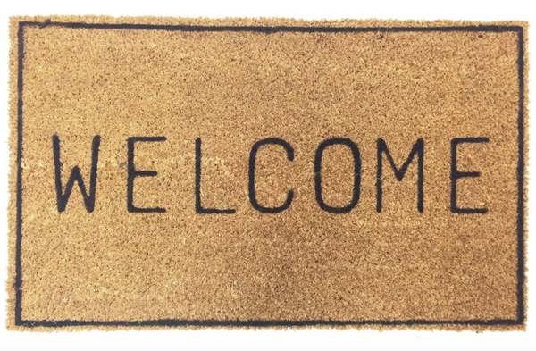 welcome doormat - Apple & Oak