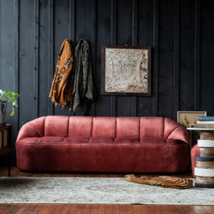 velvet margaux sofa - Apple & Oak