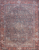 lucca rug collection- navy & red