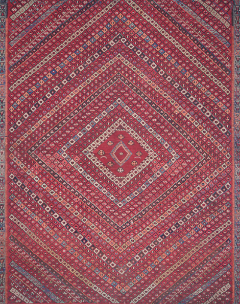 lucca rug collection- red multi