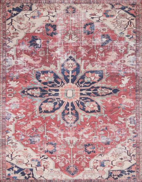 lucca rug collection- rust ivory