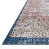 lucca rug collection- denim/terracotta