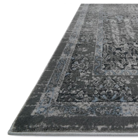 everly rug collection- gret grey