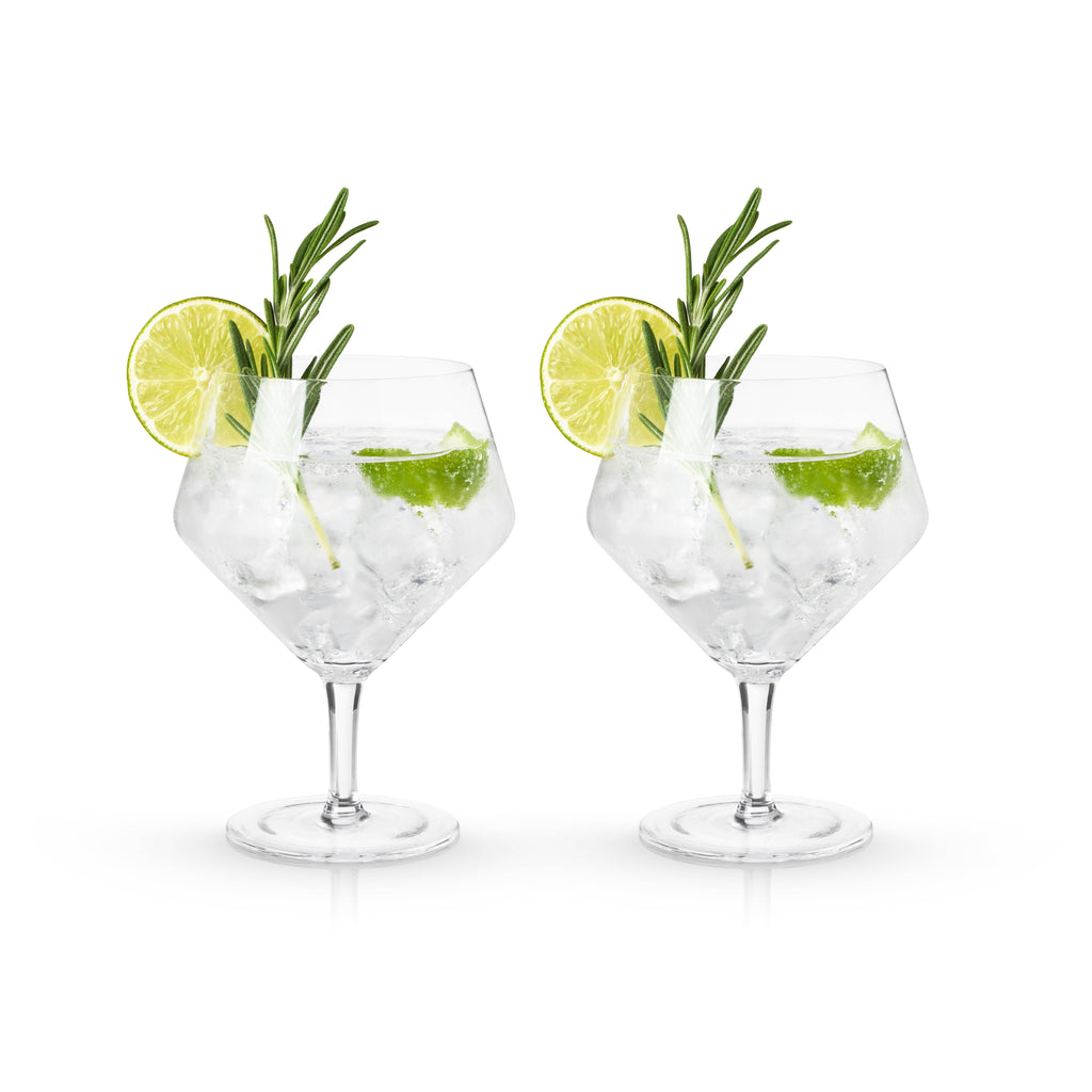 gin & tonic cocktail glasses - Apple & Oak