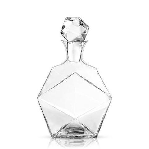 faceted crystal decanter