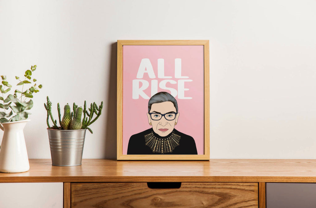rbg all rise print {8x10} - Apple & Oak