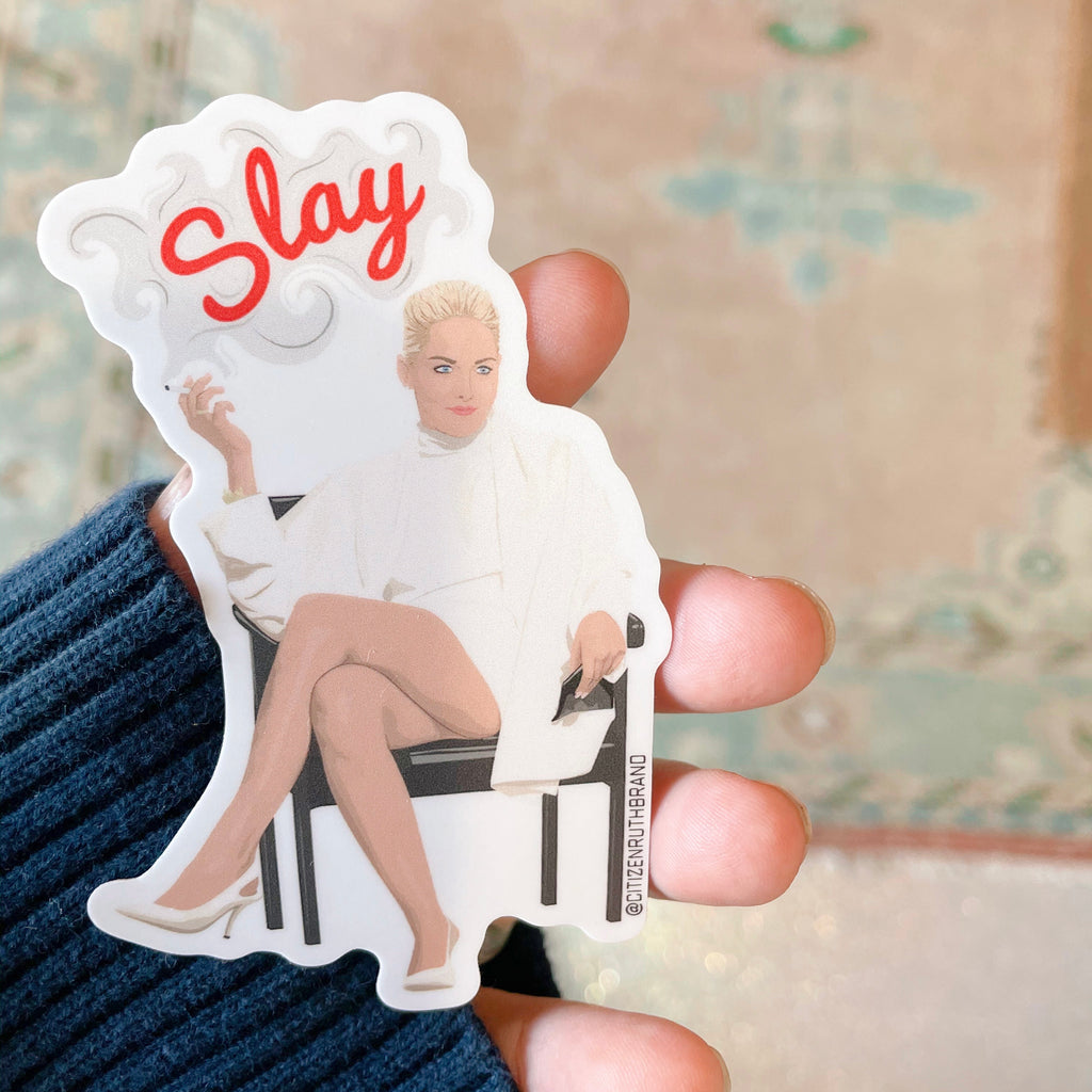 slay {basic instinct} sticker - Apple & Oak