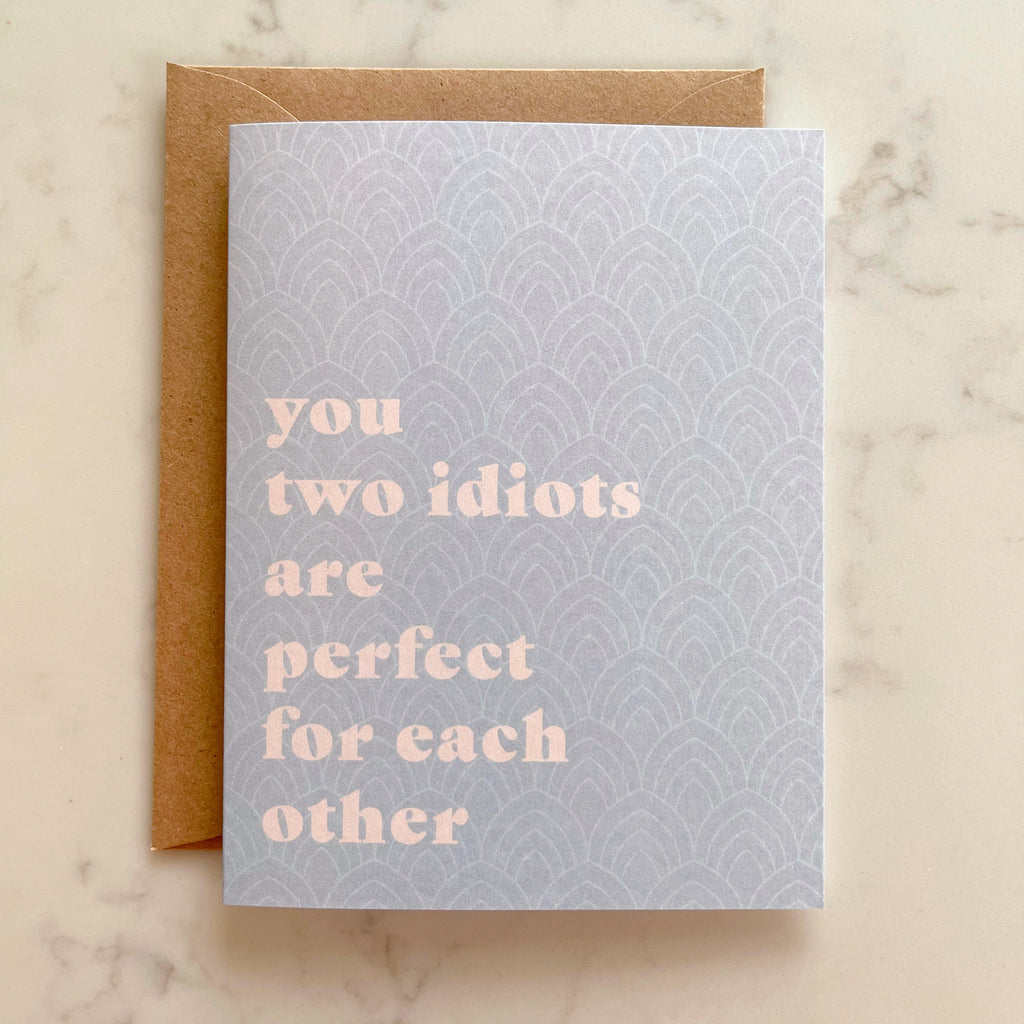 two idiots wedding card - Apple & Oak