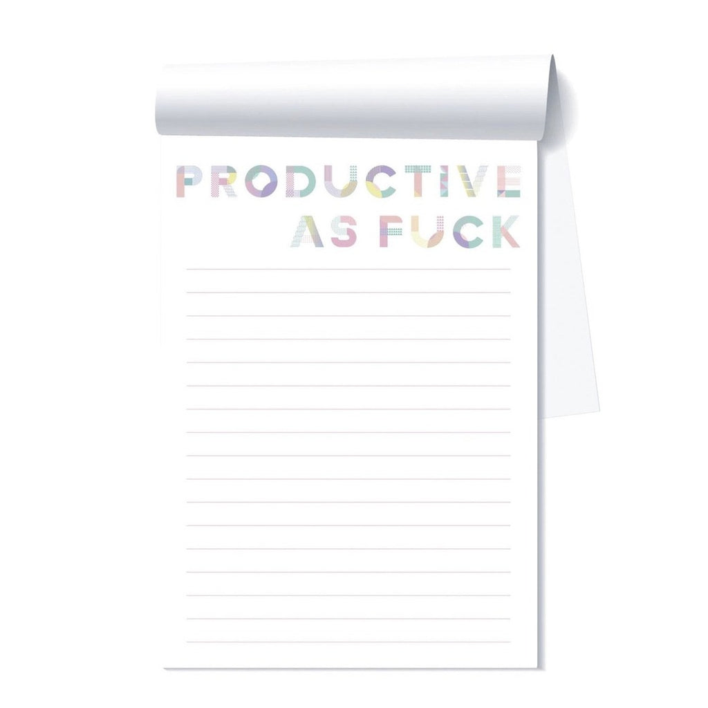 productive as fuck notepad
