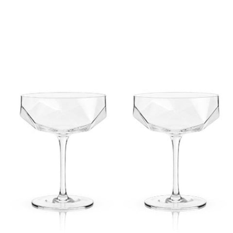 crystal coupe glasses - Apple & Oak