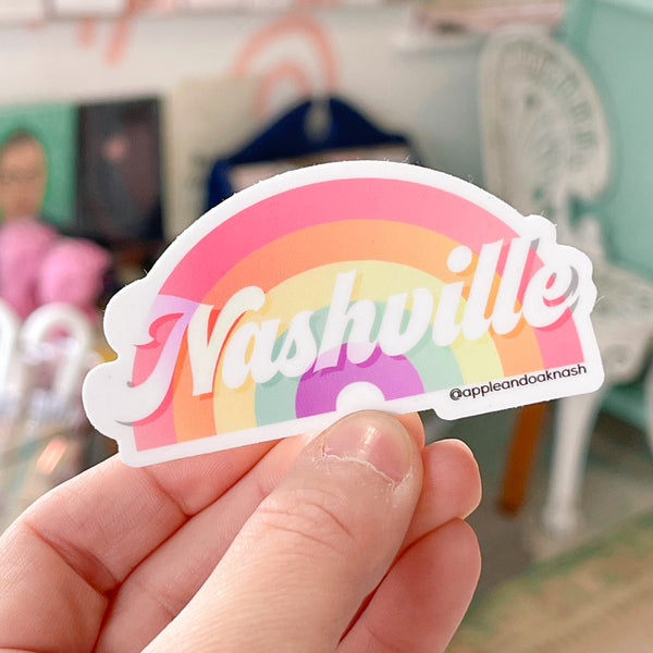 nashville rainbow sticker