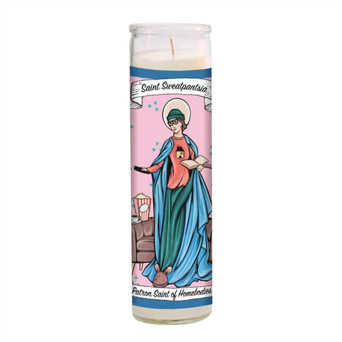 saint sweatpantsia candle