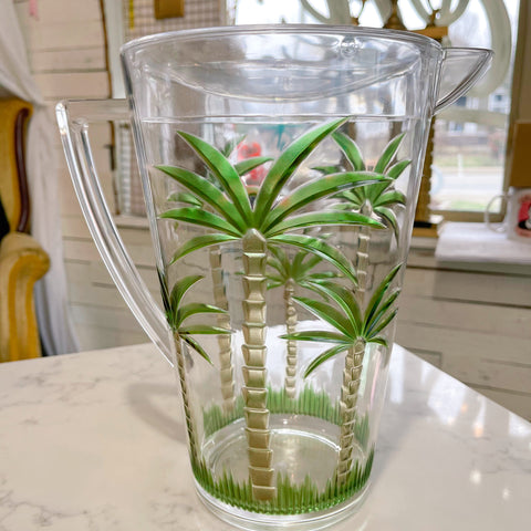 acrylic palm tree pitcher - Apple & Oak