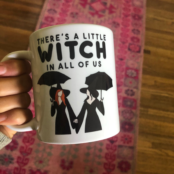 there's a little witch mug