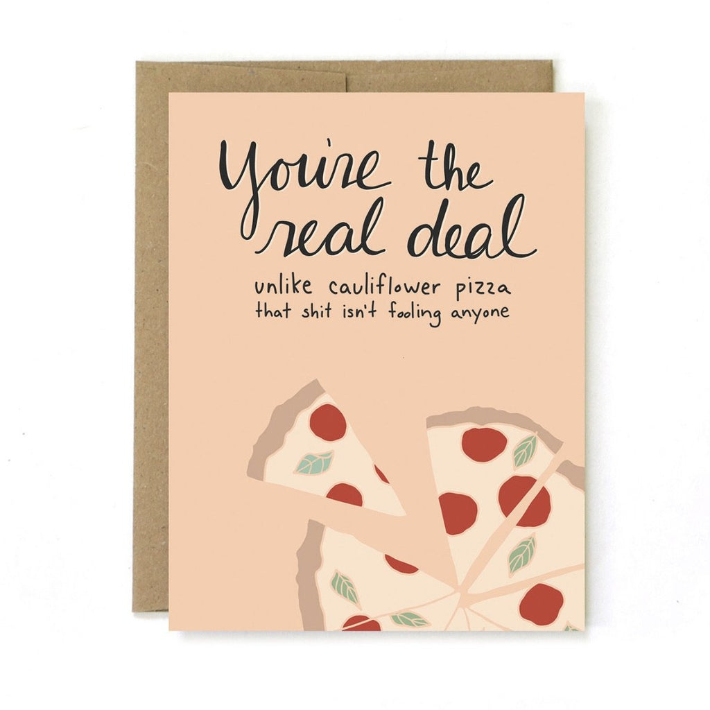 you're the real deal card - Apple & Oak