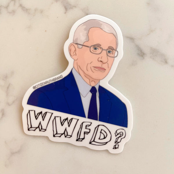 dr. fauci wwfd sticker