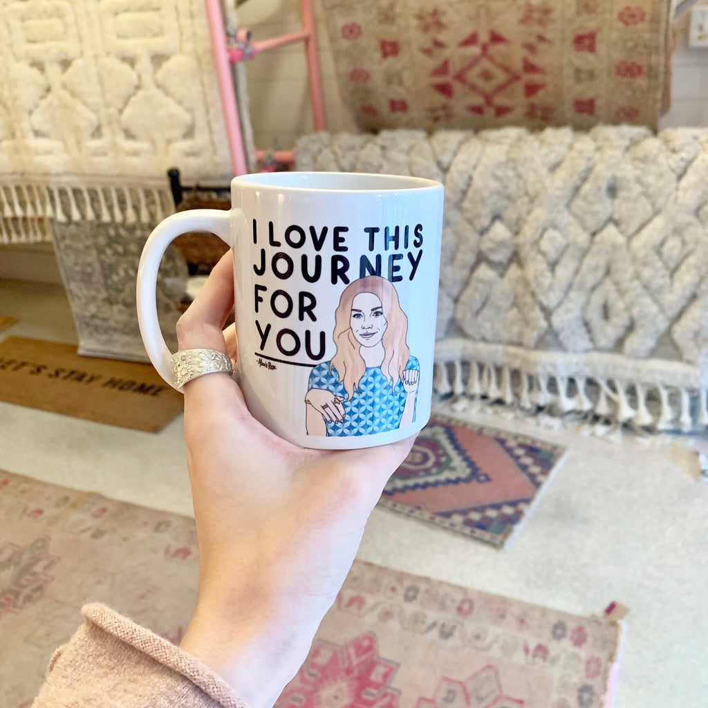 i love this journey for you mug