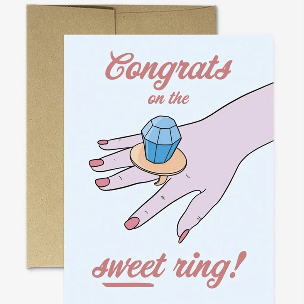 congrats on the sweet ring card - Apple & Oak