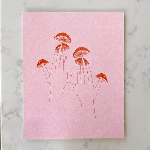"mushroom fingers art print {8""x10""} - Apple & Oak"
