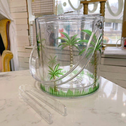 acrylic palm tree ice bucket - Apple & Oak