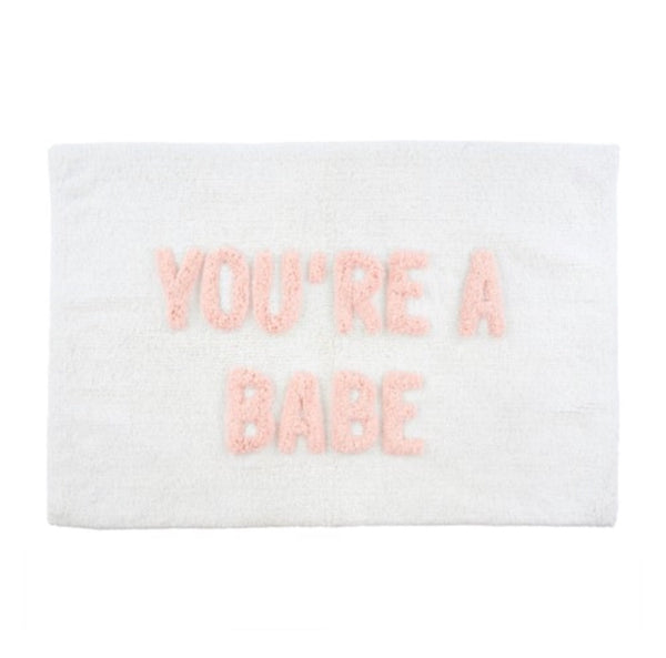you're a babe bath mat