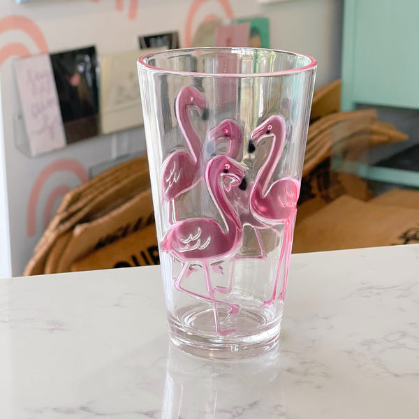 flamingo {acrylic} hi-ball tumbler - Apple & Oak