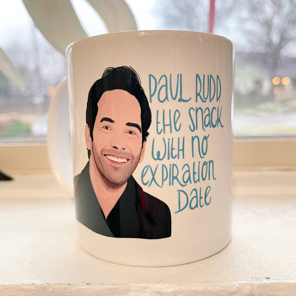 paul rudd snack mug - Apple & Oak