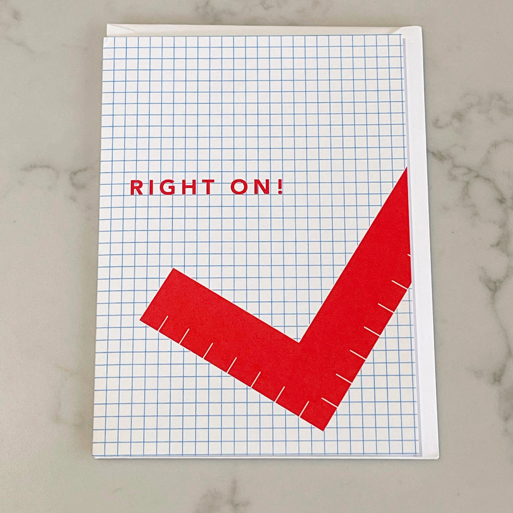right on card - Apple & Oak