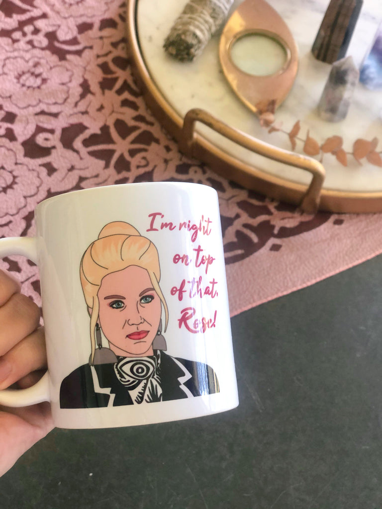 right on top of that rose mug