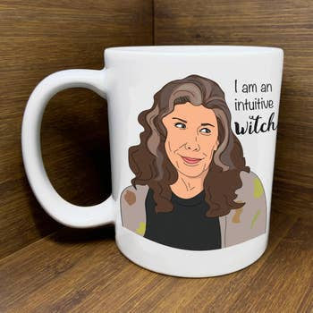 grace and frankie witch mug