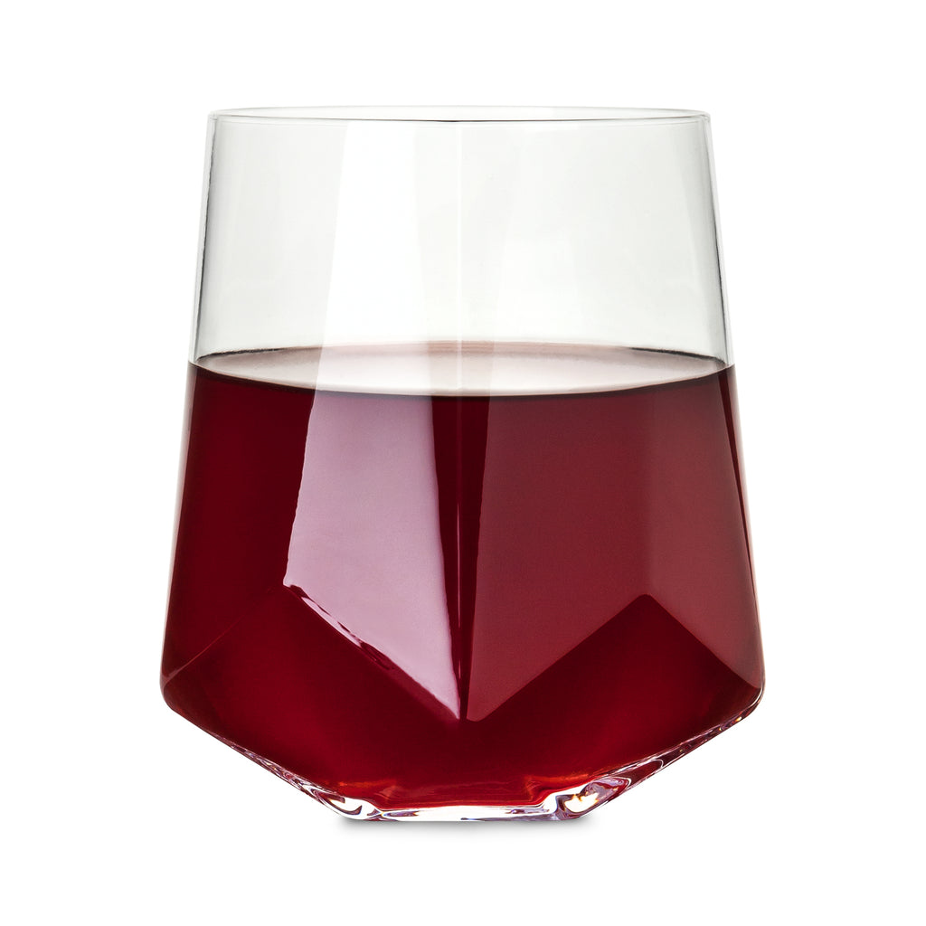 faceted crystal wine glasses