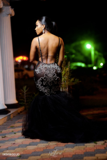 Azure ONYX Crystal Gown with TULLE train