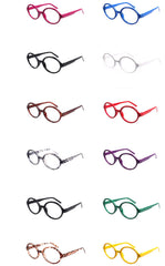 Classic Geek Nerd Style No Lens Oval Glasses Frame Eyewear
