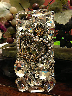 For iPhone 5S 5 Luxury Diamond Crown Clear Case Cover Crystal Bling Ship From US