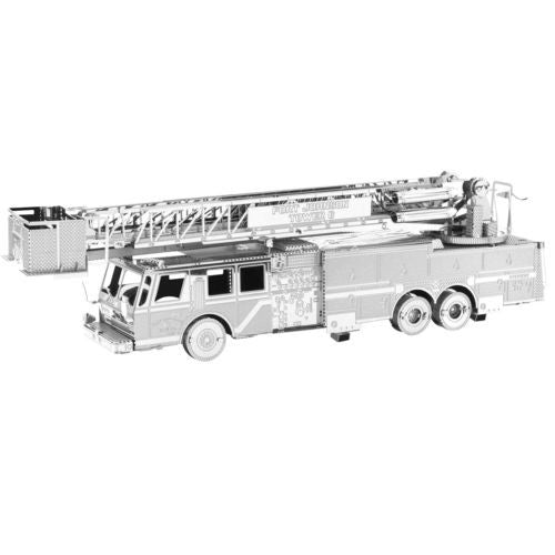 Metal Earth 3D Laser Cut Steel Model Kit Fire Department Fire Engine Truck Model