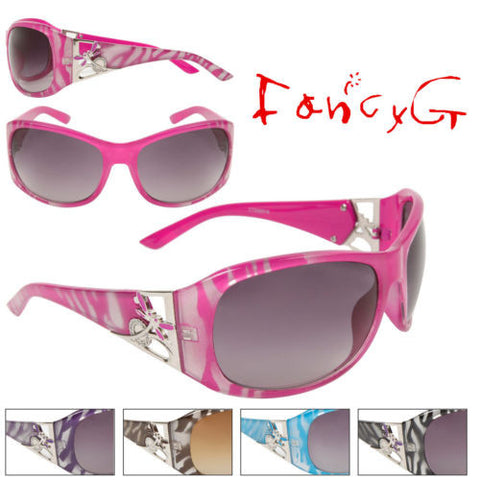 12 Assorted Women Fashion Sunglasses Dragonfly Design Style UV 400 Protection