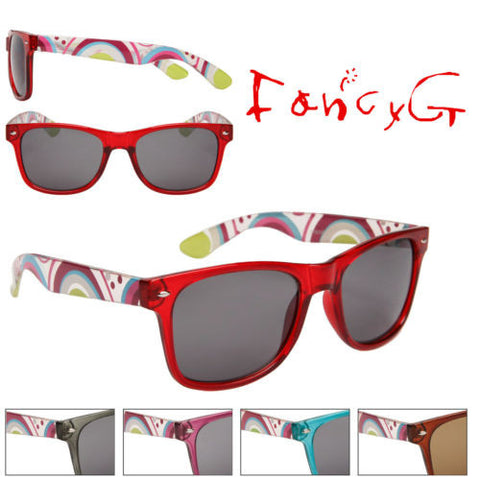12 Assorted Unisex Fashion Sunglasses Fun Patterns UV 400 Protection