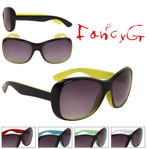 12 Assorted Unisex Fashion Sunglasses Fashion Tone UV 400 Protection