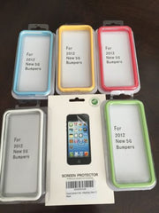 iPhone 5S iPhone SE Bumper Case Lot 5 Color Set Protection Free Screen Protector