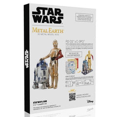 Metal Earth 3D Laser Cut Steel Model Kit Star Wars C-3PO & R2-D2 Model Gift Set