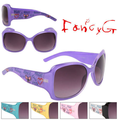 12 Assorted Women Fashion Sunglasses Cute Love Peace Heart UV 400 Protection