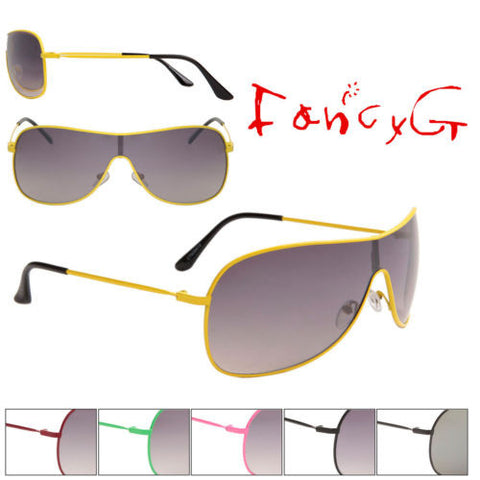 12 Assorted Fashion Sunglasses Unisex Classic Single Lens UV 400 Protection
