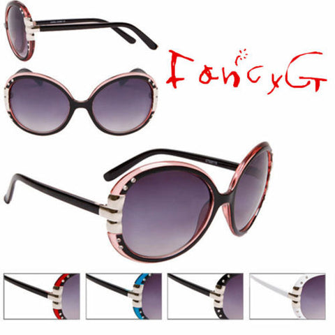 12 Assorted Unisex Fashion Sunglasses Round Stylish UV 400 Protection
